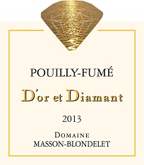 Label Pouilly-Fume D'or et Diamant 2013