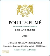Label Pouilly-Fume Les Angelots 2015