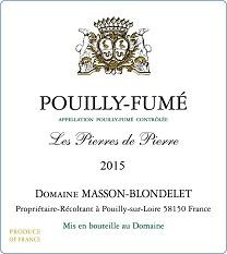 Label Pouilly-Fume Les Pierres de Pierre 2015
