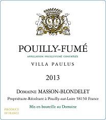 Label Pouilly-Fume Villa Paulus 2013