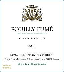 Label Pouilly-Fume Villa Paulus 2014
