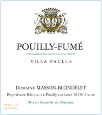 photo Domaine Masson-Blondelet Pouilly-Fume Villa Paulus