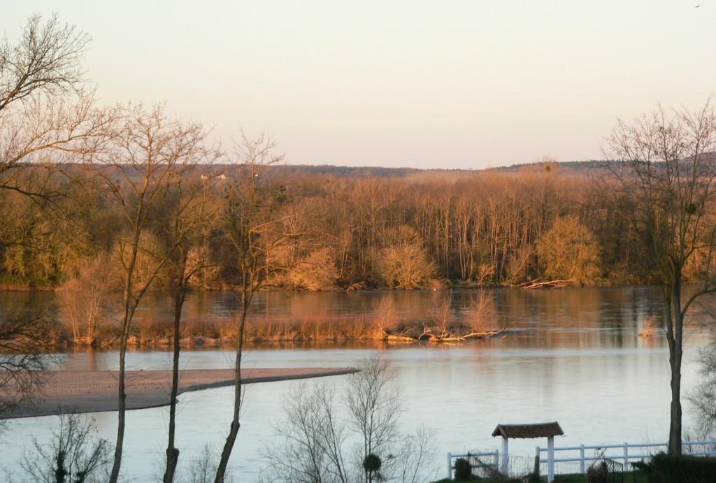 La Loire à Pouilly le 24 fév 2014 prise par Jean-Michel Masson à 07h57