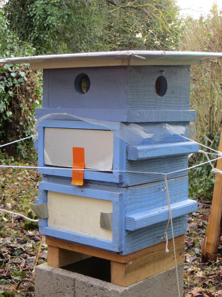Ruche installée par Pierre-François Masson à Pouilly sur Loire pour encourager la survie des abeilles.