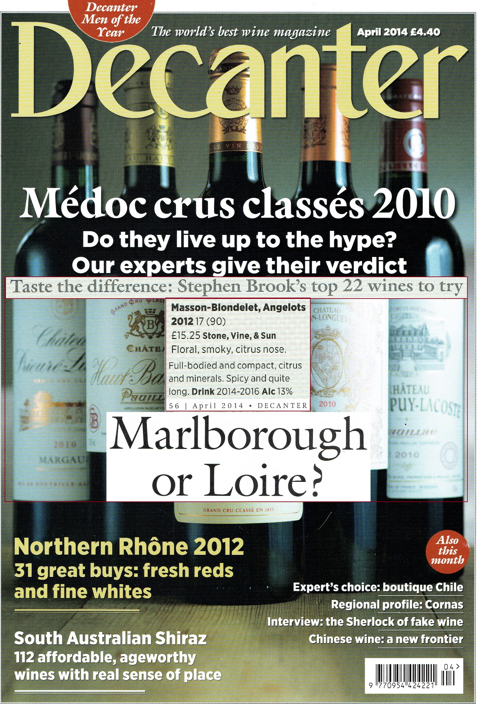 DECANTER 04.2014 Masson-Blondelet