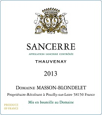 Label Sancerre Rouge Thauvenay 2013