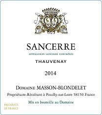 Label Sancerre Rouge Thauvenay 2014