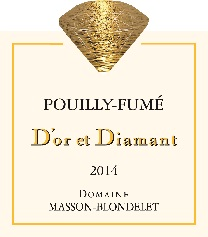 Label Pouilly-Fume D'Or et Diamant 2014