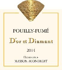 Label Pouilly-Fume D'Or et Diamant 2014